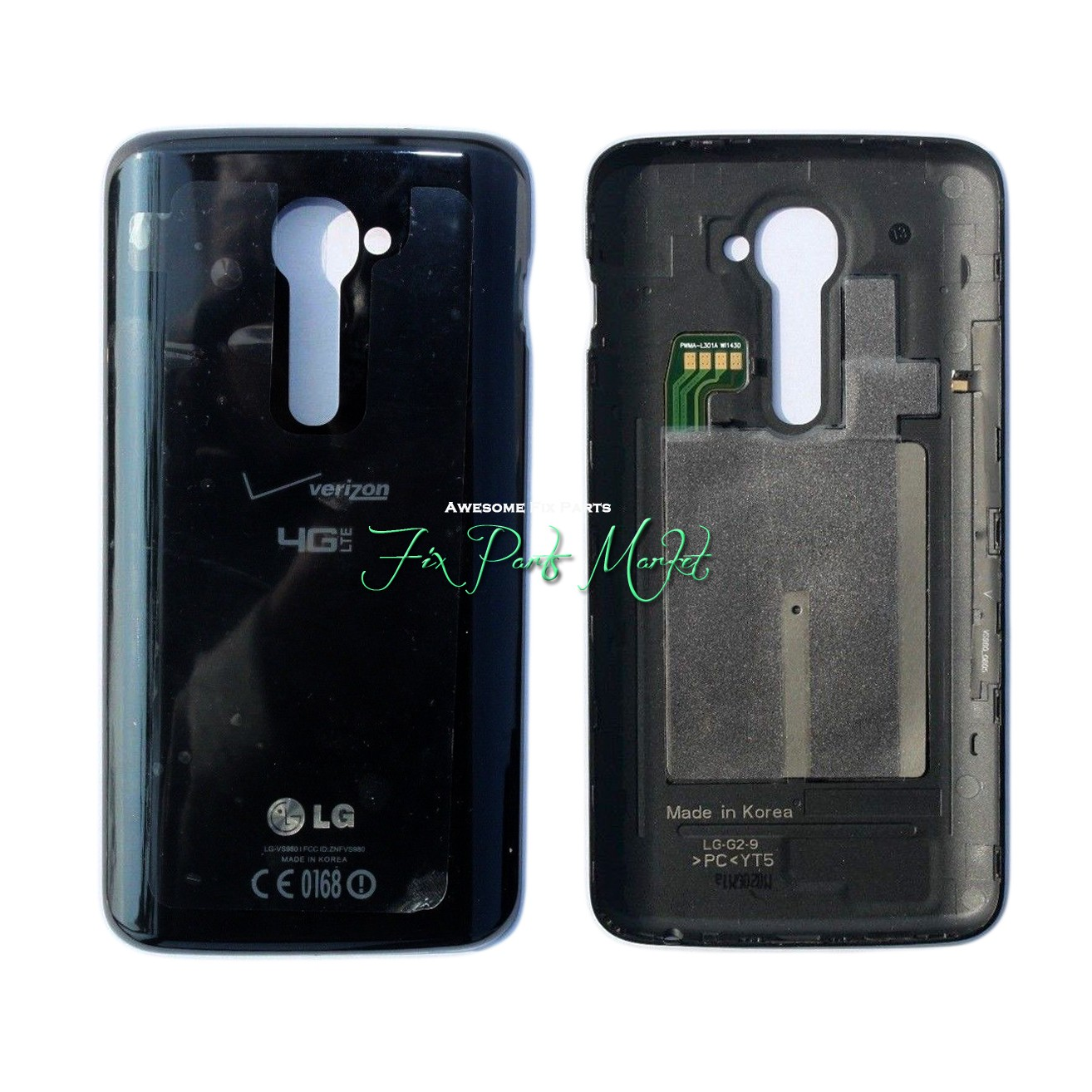 new styles d6b8e 45765 Details about Back Cover Case Rear Battery Door Cover for LG G2 Verizon  VS980 With NFC - Black