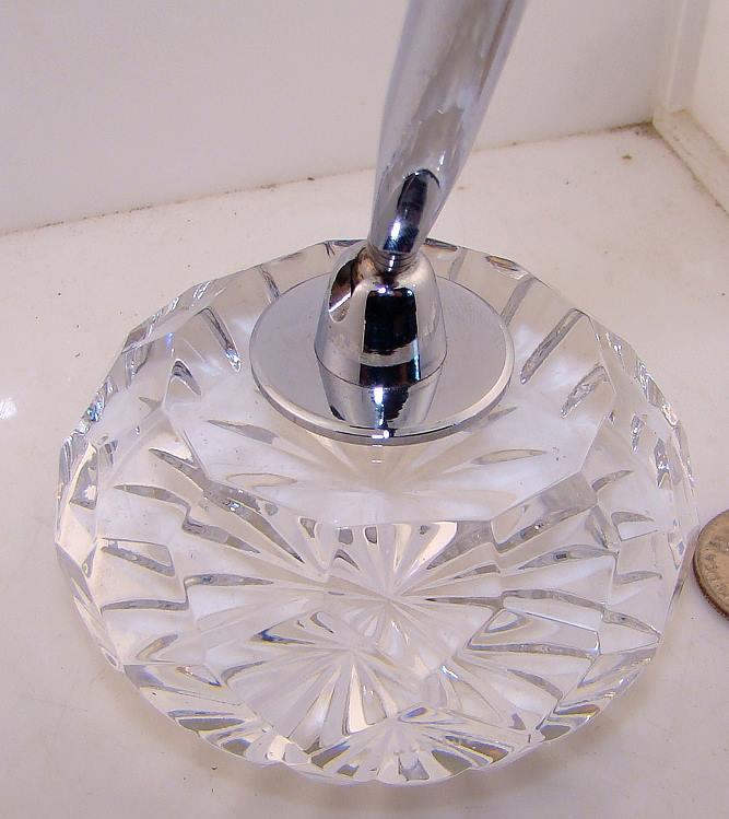 Waterford Cut Glass Crystal Desk Top Ink Pen Holder Desk Set