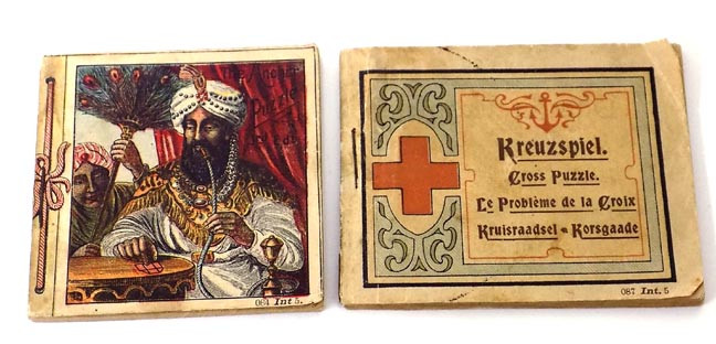 This Listing Is For The Instructions Booklets And Partial Boxes That Came With Two Small Richter Puzzles Made In Rudolstadt Germany Puzzle Pieces Are