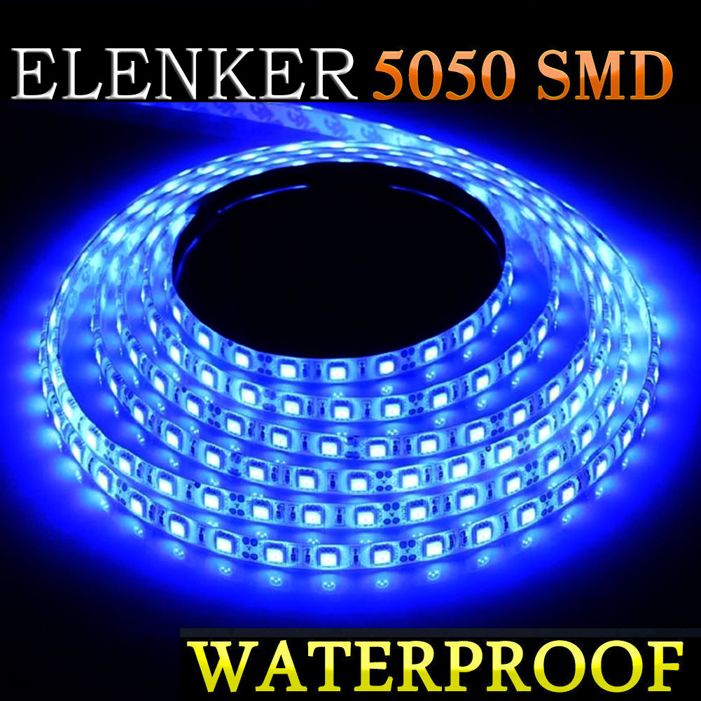 Rv Blue Wireless Waterproof LED Strip Light 5M For Boat Car// Suv Truck