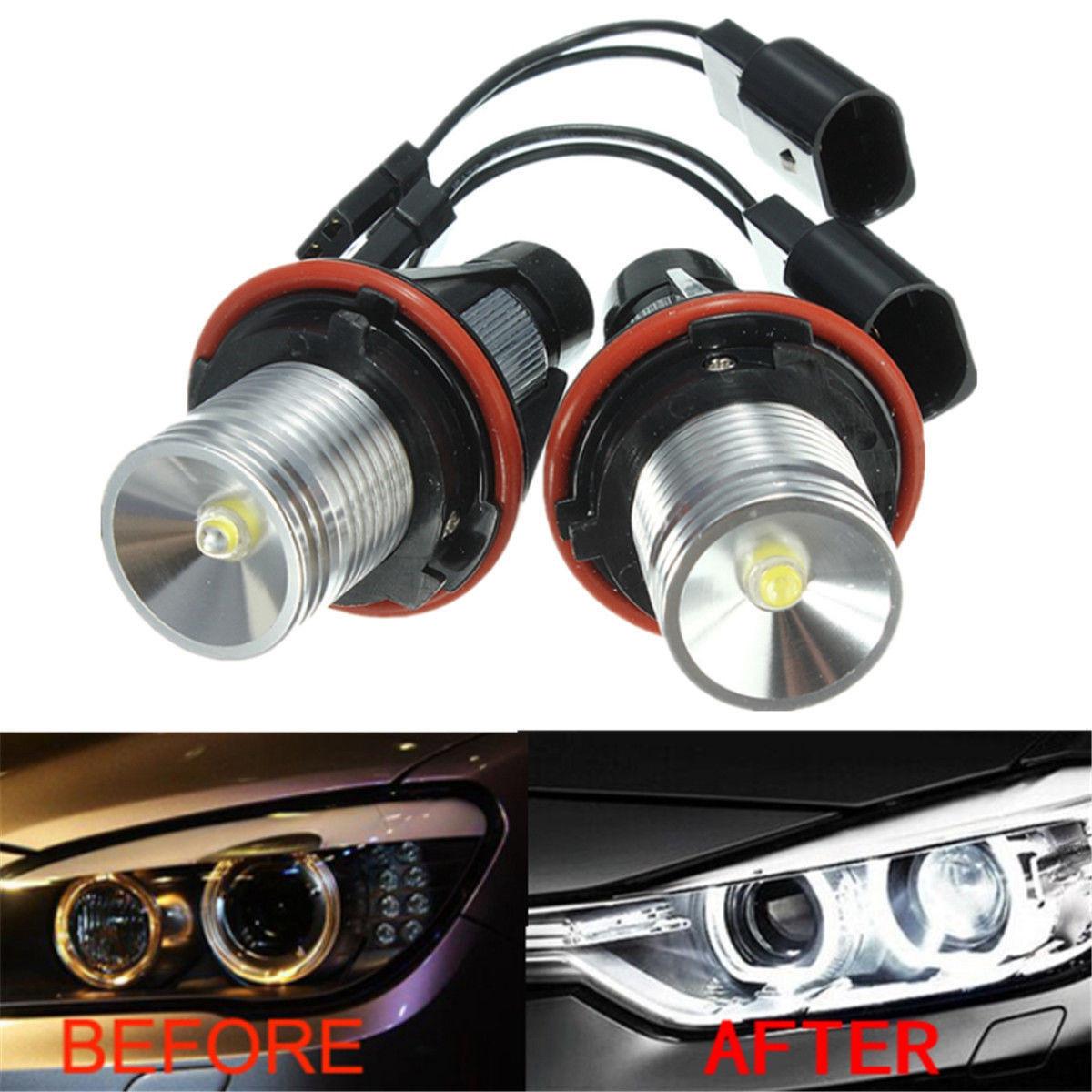 For Bmw Angel Eyes Halo White Led Ring Marker Light Bulbs