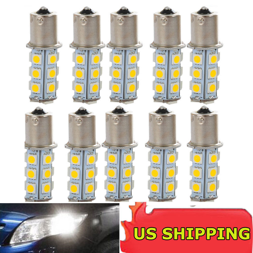 1x 12V 1156 BA15S 5050 7503 1141 18SMD LED White Car RV Trailer Light Lamp Bulb