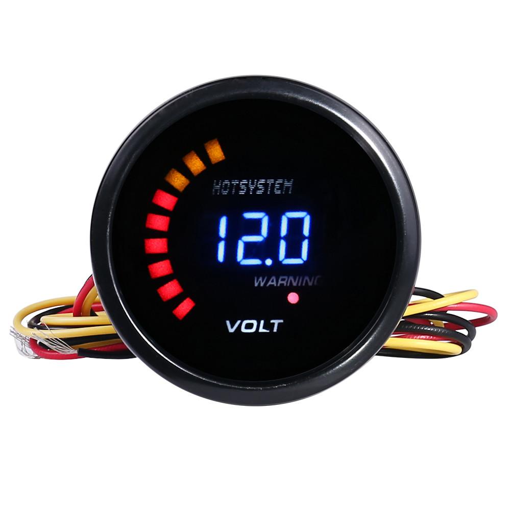 Hotsystem 2 52mm Digital 20 Led Electronic Volt Voltmeter Gauge For Mini Cooper Tachometer Wiring Diagram