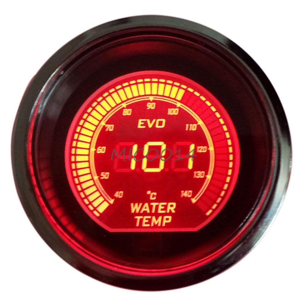 Hs Red  U0026 Blue 2 U0026quot  52mm Digital Led Evo Water Temperature