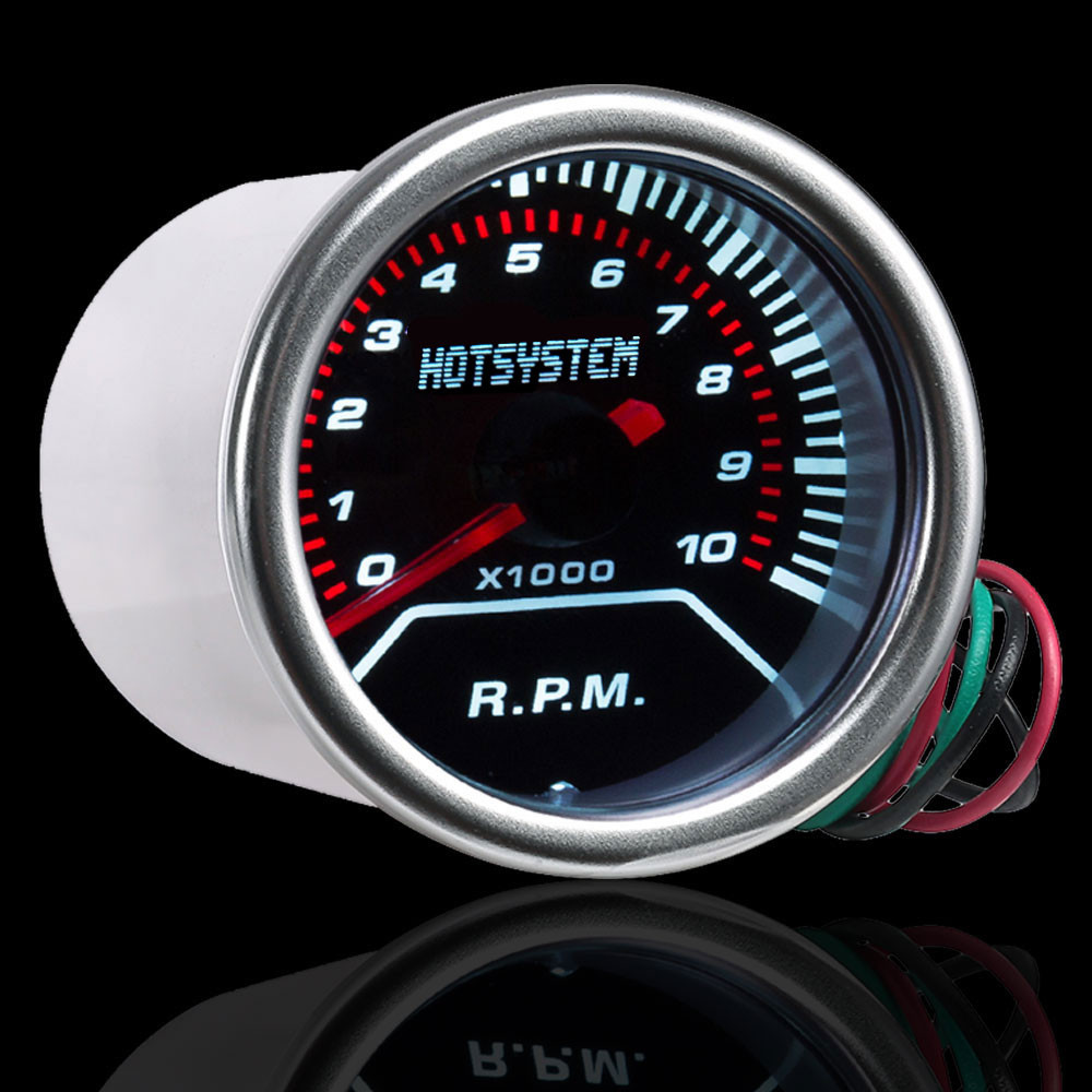 """Pointer 2/"""" 52mm Car Universal Smoke Len LED Tacho Tachometer Gauge Meter"""