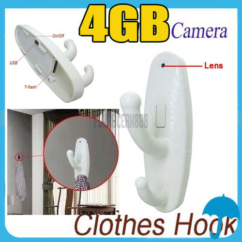 4GB Motion Detection Clothes Hook Spy Camera Hidden Mini DV Cam Home