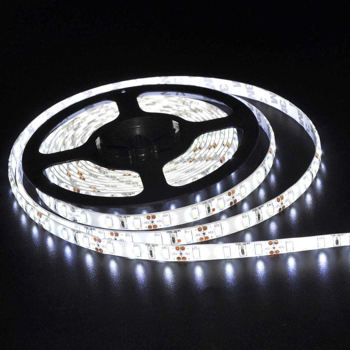 5M 300LEDs LED Strip Bar String of Light 5630 SMD Cool White Super Bright GL495