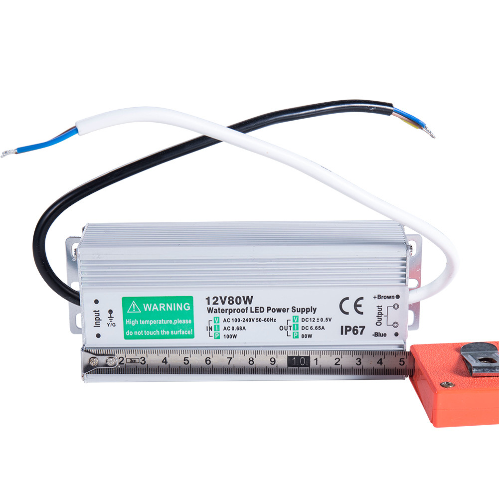 Details about 80 Watt Waterproof LED Power Supply Driver Transformer 110 to  12 Volt Dc Output