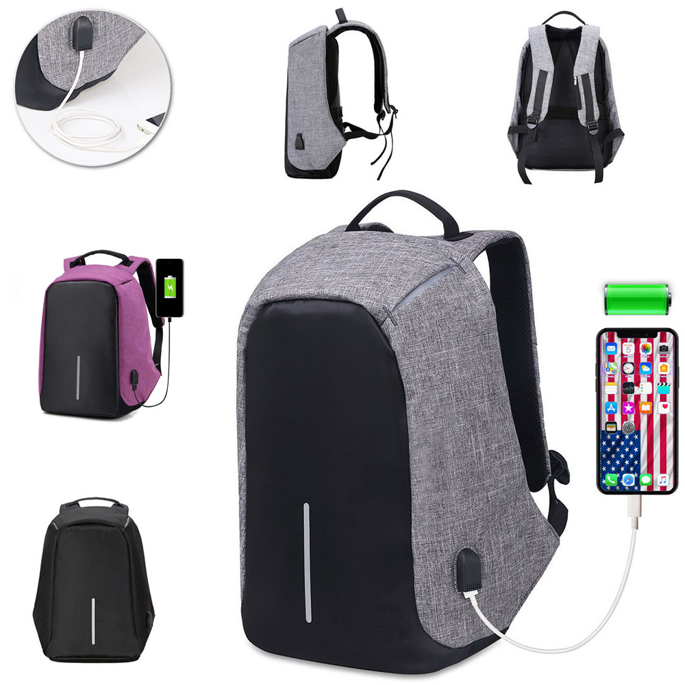448d3acea561 Details about Hot Anti Theft Smart School College Travel Backpack Safe Bag  USB Charging Laptop