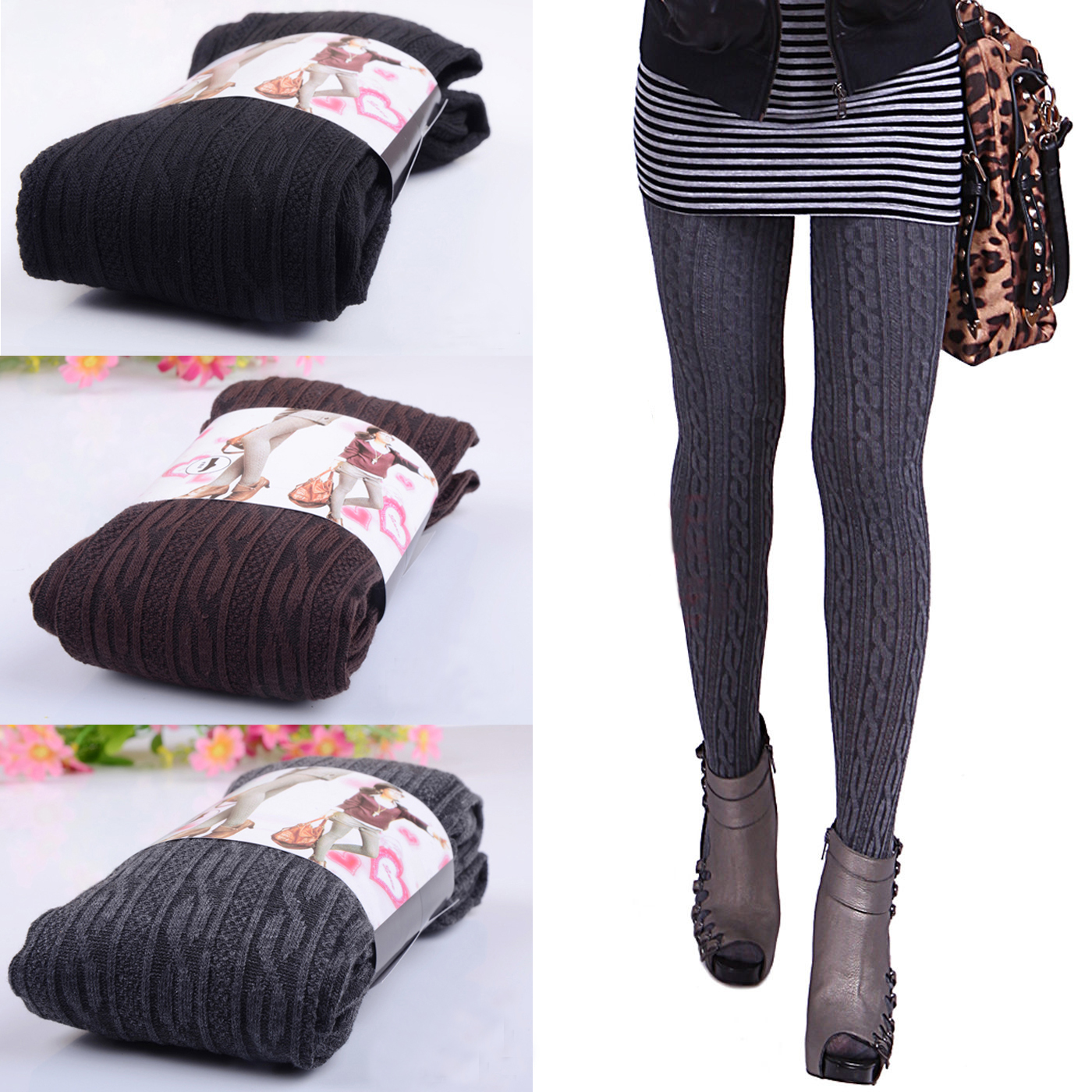 womens comfortable winter fashion footed warm cotton stockings tights ebay. Black Bedroom Furniture Sets. Home Design Ideas