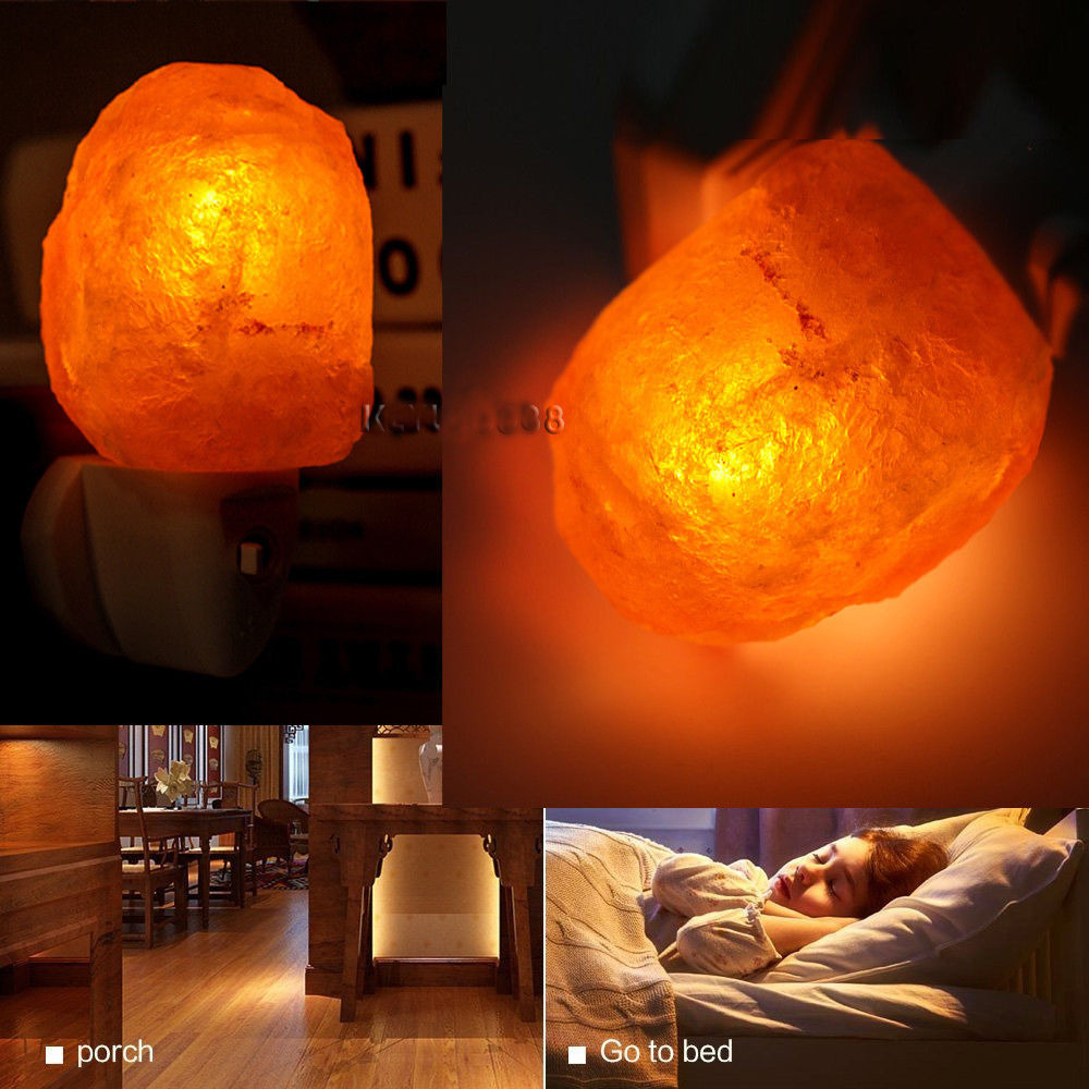 Lamps with night light - Mini Hand Carved Natural Crystal Himalayan Salt Lamp Night Light Original Stone