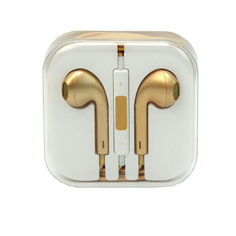 gold iphone headphones gold earphones for iphone 5 5c 4s ipod nano w remote 3153