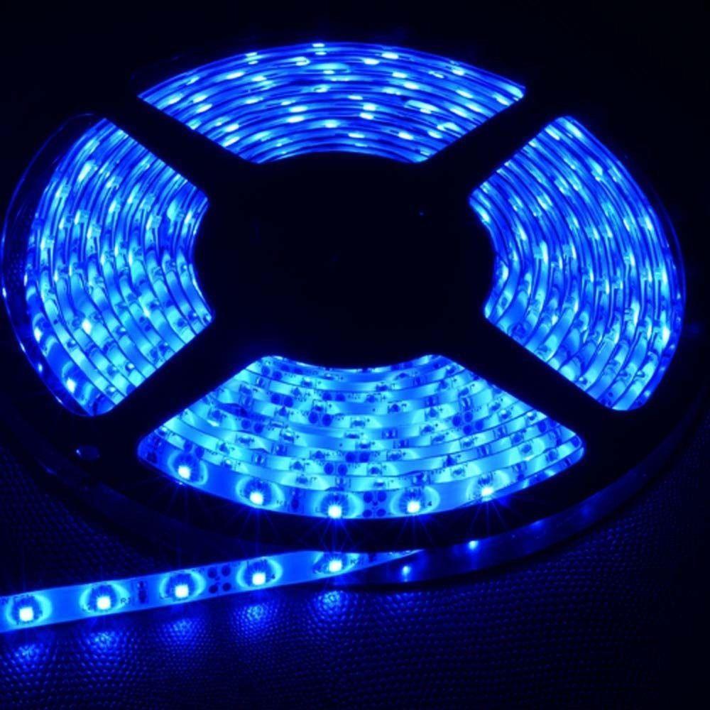 5050 Flexible Led Strip Lights Blue 5M 300Leds SMD Lamps DC12V 60W Waterproof