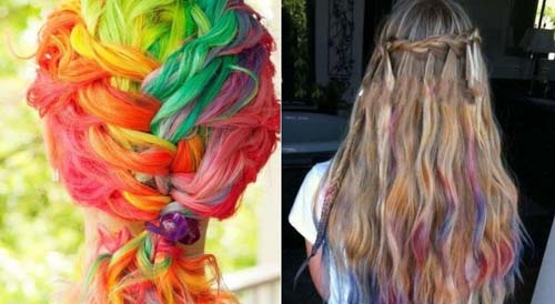 New Size 24 Colors Non-toxic Temporary Hair Chalk Dye Soft Pastels ...