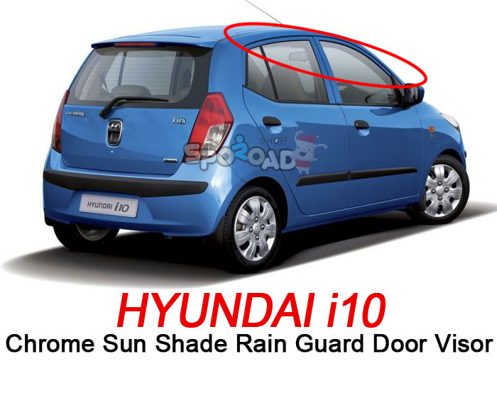 i10 Chrome Sun Shade Rain Guard Door Window Visor Exterior car trim K-630  Christmas Holiday 090529fc541
