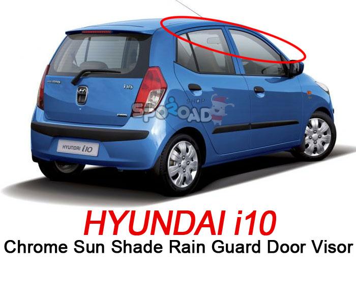 i10 Chrome Sun Shade Rain Guard Door Window Visor Exterior car trim K-630  Christmas Holiday cc706ed3296