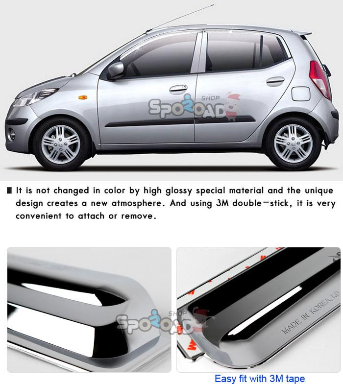 I10 Chrome Sun Shade Rain Guard Door Window Visor Exterior Car Trim K 630 |  EBay