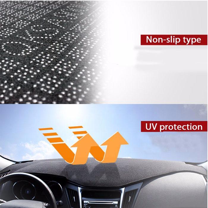Fits Hyundai Genesis Coupe 2013-2015 Velour Dash Cover Mat Black