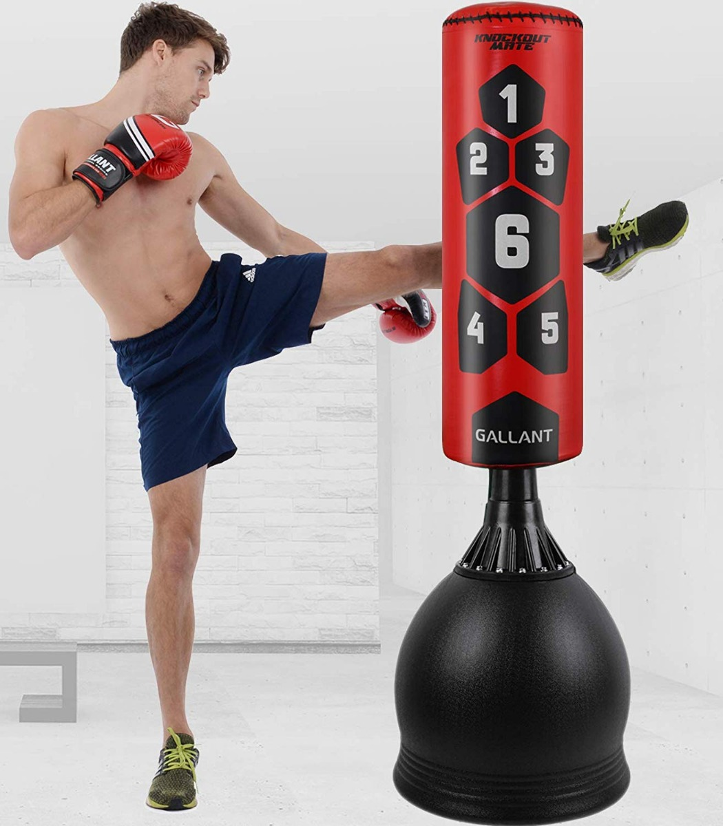 MMA Kick Stand Kids Free Standing Punch Bag Heavy Duty Filled Boxing Punch Bag