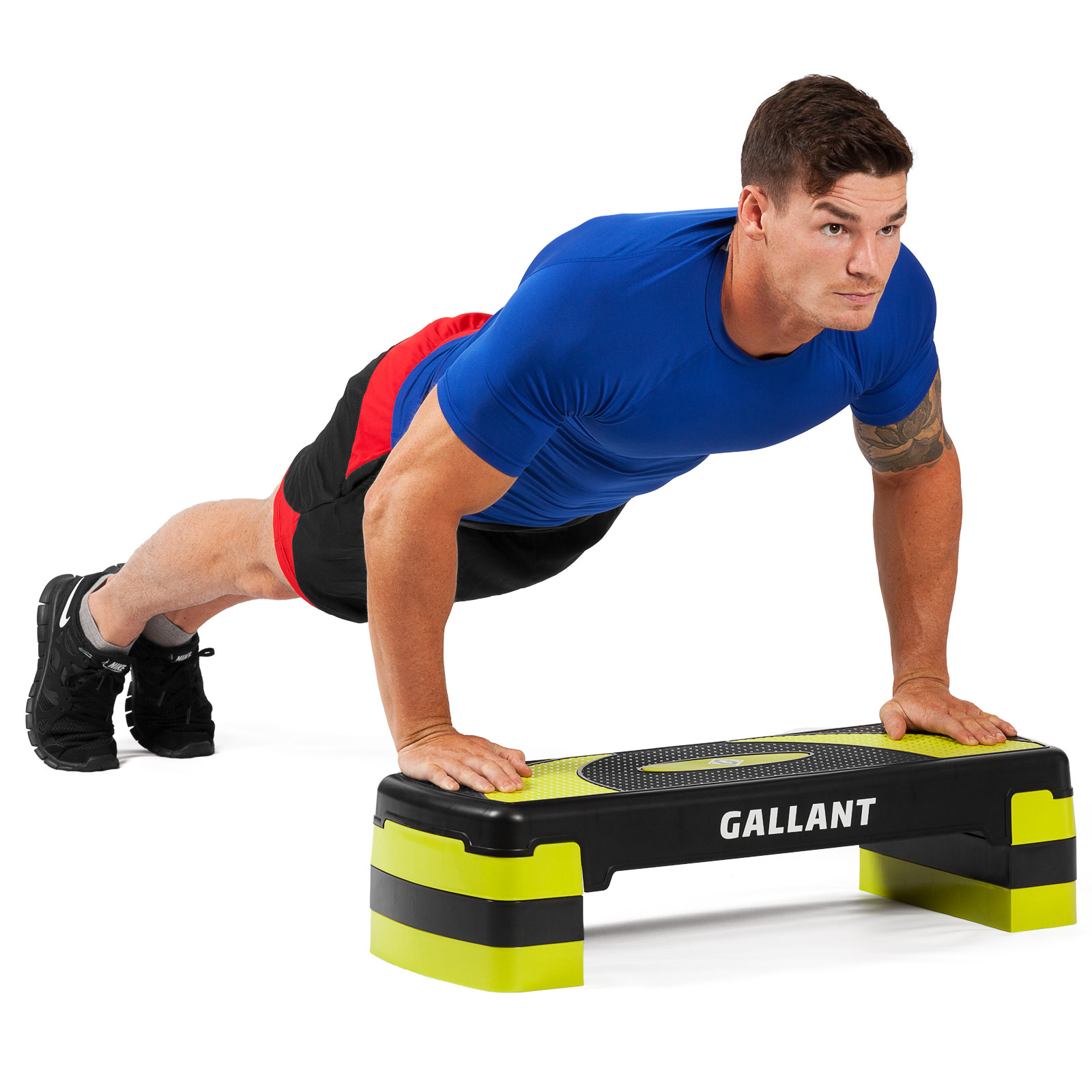 Home Exercise Equipment Stepper: Gallant 3 X Adjustable Aerobic Stepper Cardio Fitness Step