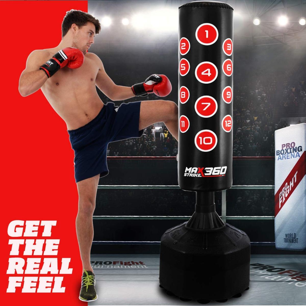 Kids Free Standing Punch Bag Junior Heavy Duty Kick Boxing MMA Gym Training Set