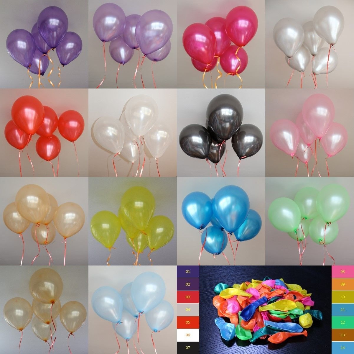 100Pcs 12inch Latex Helium Thickening Round Wedding Party Birthday Balloon