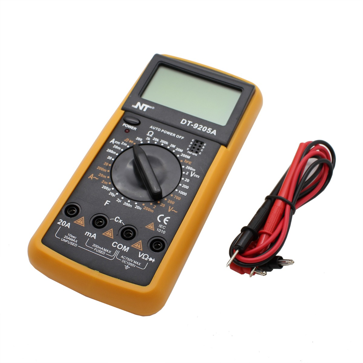 new digital lcd multimeter nt 9205 voltmeter ammeter ohmmeter ohm volt tester ebay. Black Bedroom Furniture Sets. Home Design Ideas