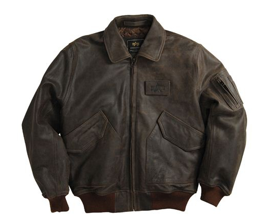 New Alpha Industries CWU 45 P Cowhide Leather Fighter Pilot