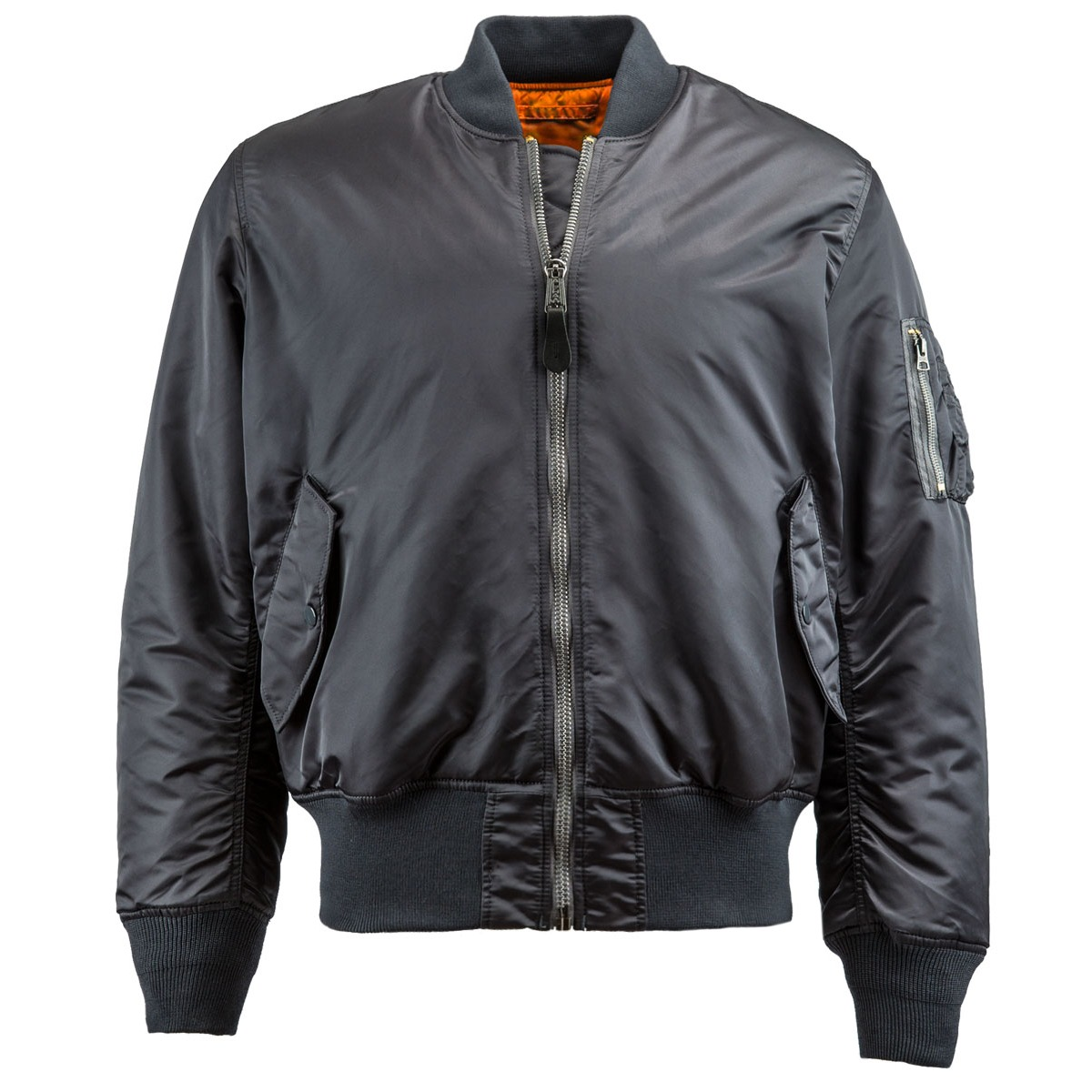 Alpha Industries MA-1 Pilot Jacket Steel Blue Gray Black Navy Sage ...