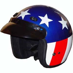 Dot Captain America Flag Easy Rider Three Quarter