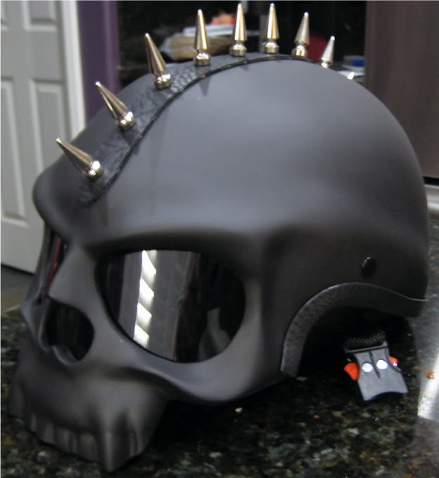 BLACK SKULL NOVELTY MOTORCYCLE BIKER HALF HELMET SHORTY ...