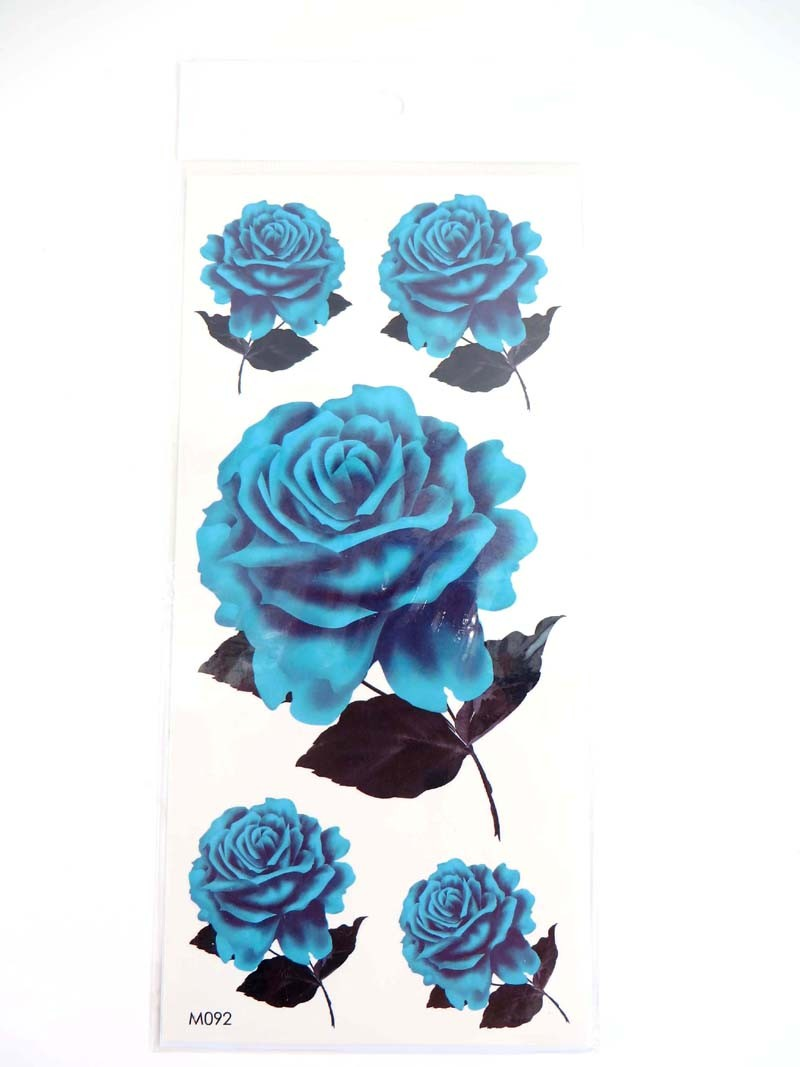 Us seller bracelet tattoo blue rose flower tattoo temporary for reselling or ordering in bulk please check out our temporary tattoo wholesale lot collection izmirmasajfo