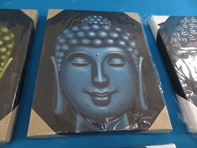 Details About 6 Pcs Lot Buddha Abstract Art Airbrush Painting On Canvas Ship From Us Canada