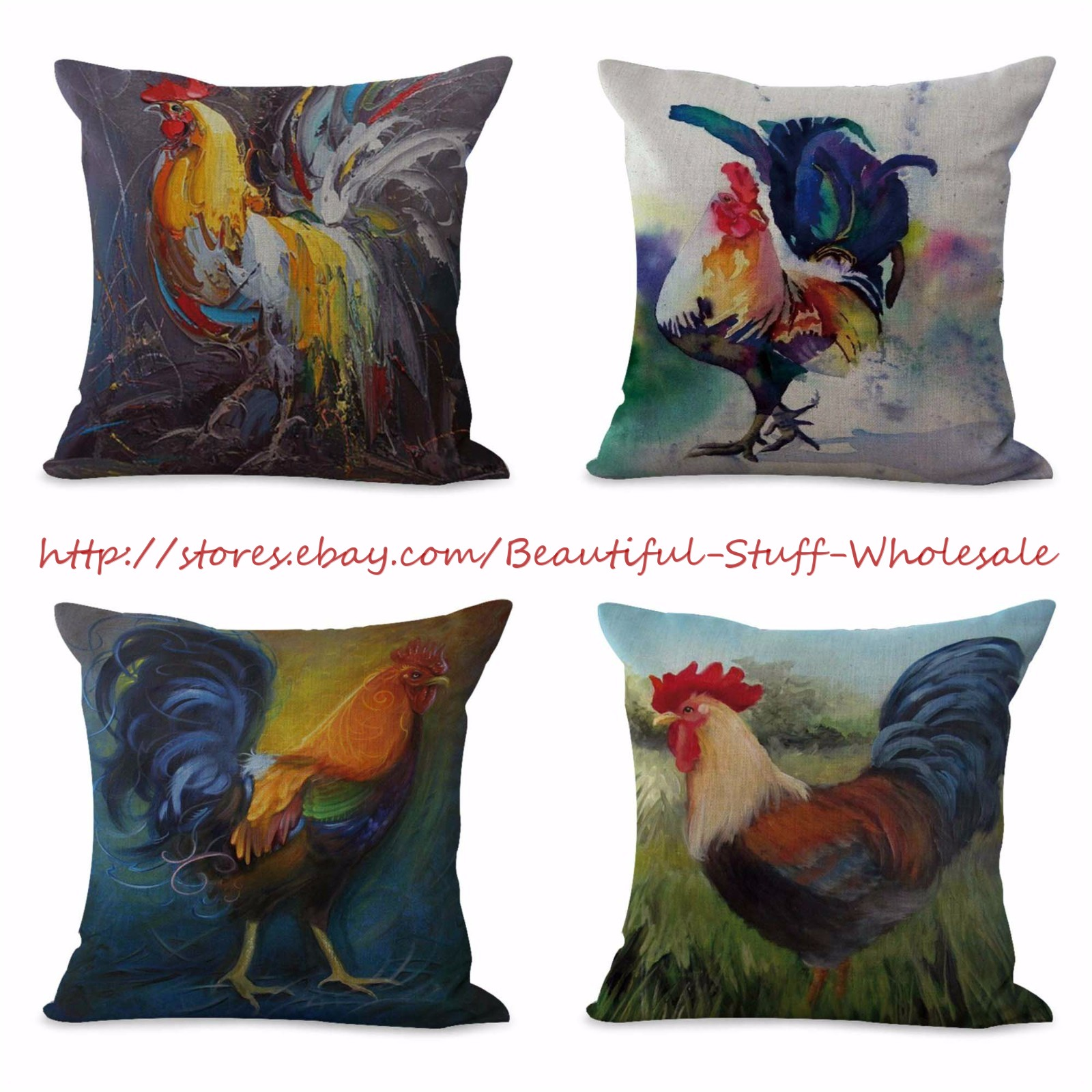 farmhouse animal rooster chicken cushion cover home decor accessorie US SELLER