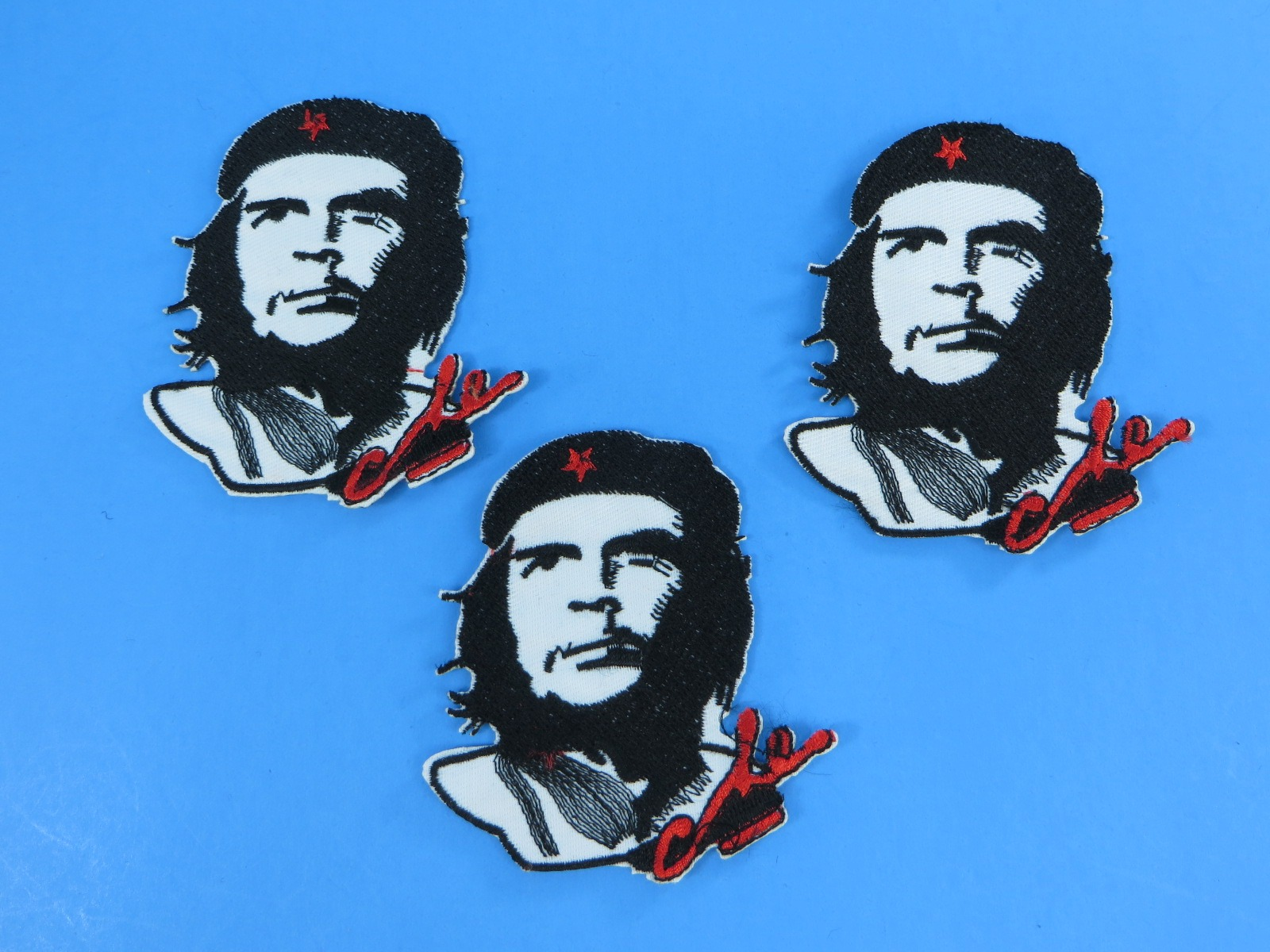 2x CHE GUEVERA CUBA Embroidered Iron Sew On Cloth Patch Badge Applique