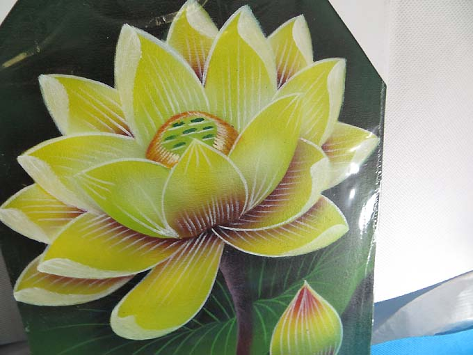6 Pcs Wholesale Lotus Flower Balinese Oil Painting On
