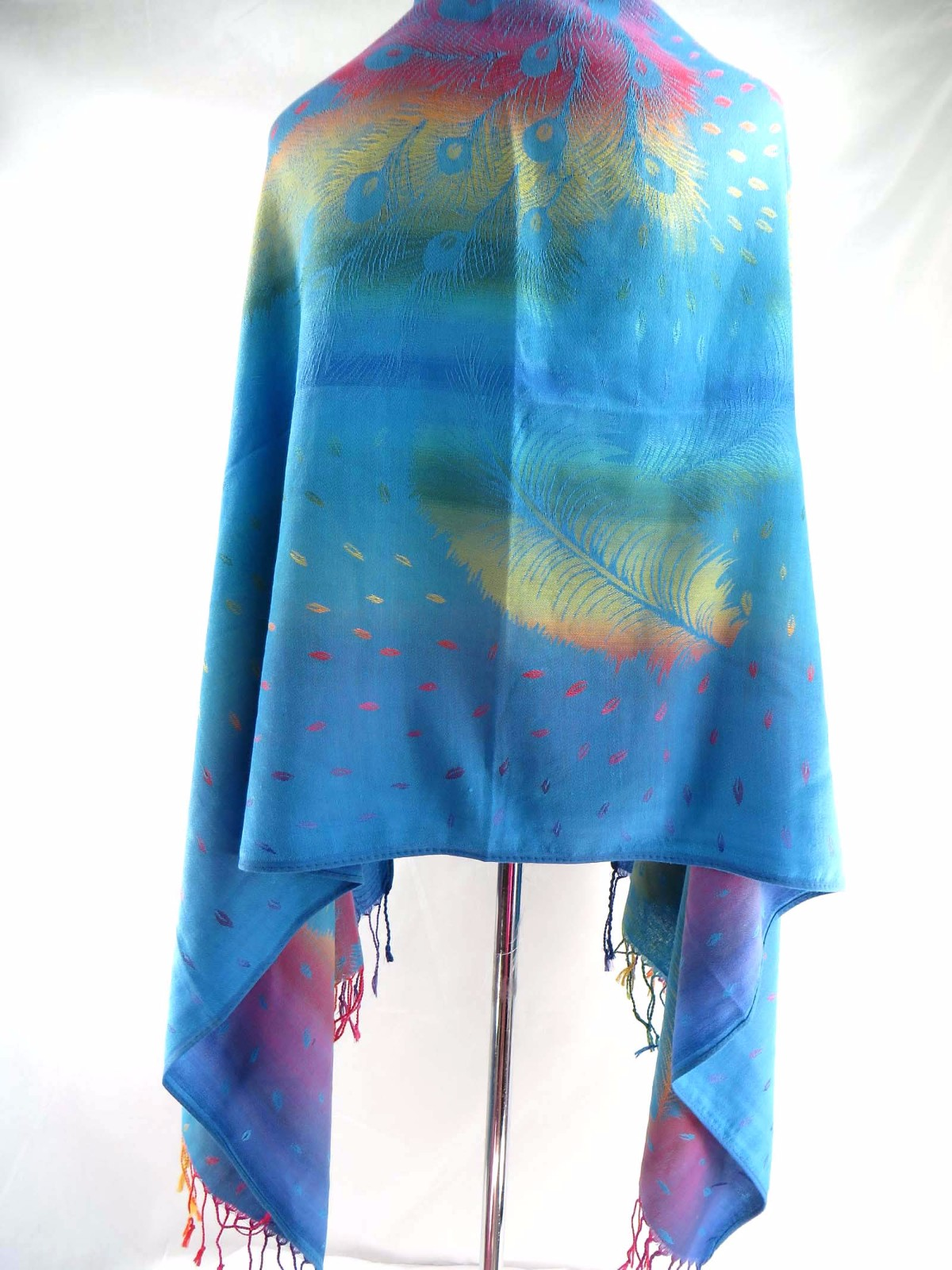 US SELLER-lot of 10 rainbow butterfly feather pashmina scarves viscose and wraps