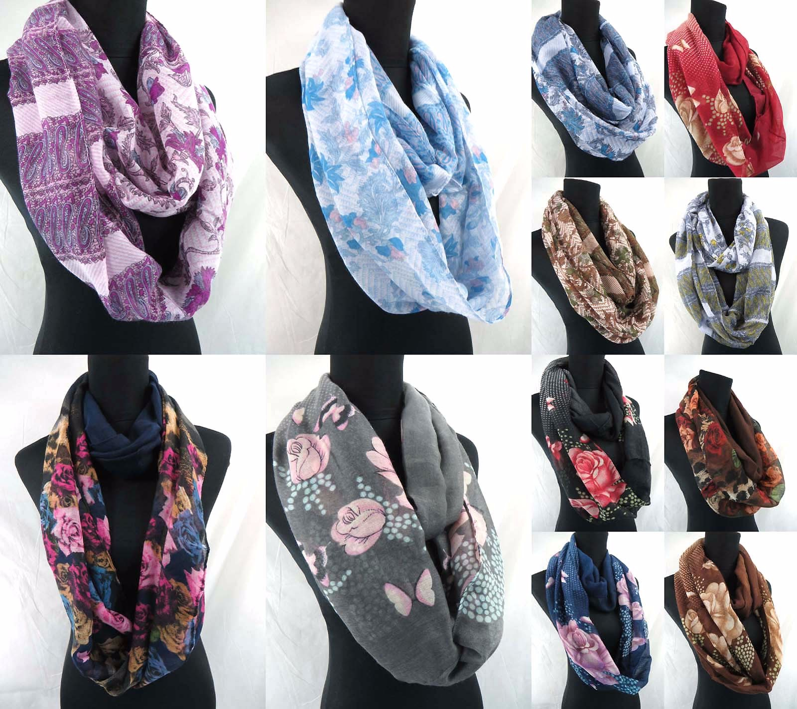 US SELLER-lot of 6 Wholesale sarong Casual Clothing for Women fashion scarves