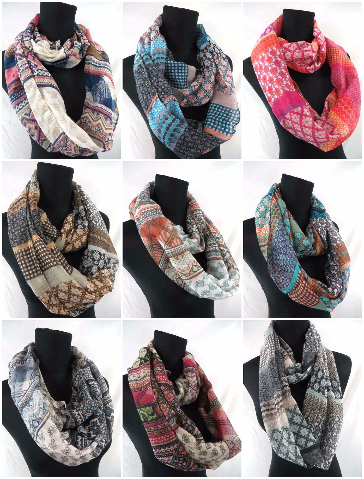 US SELLER-lot of 6wholesale infinity loop scarves  floral infinity scarf