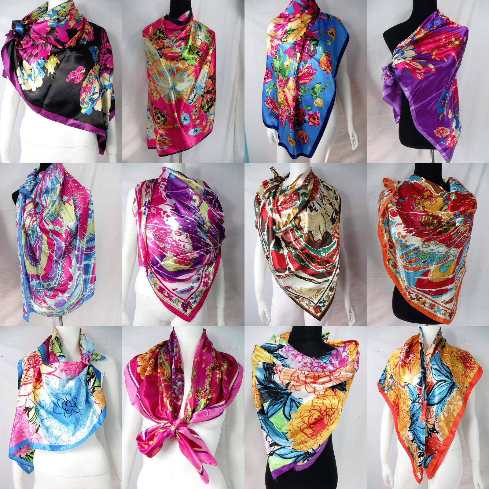 *US Seller*lot of 5 wholesale bandana square stole scarves in bulk floral