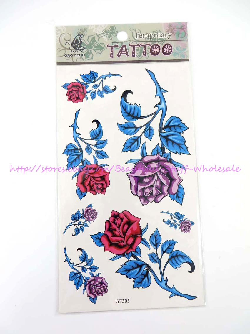 95120a838 Details About US SELLER Rose Flower Tramp Stamp Lower Back Temporary Tattoo  Stickers