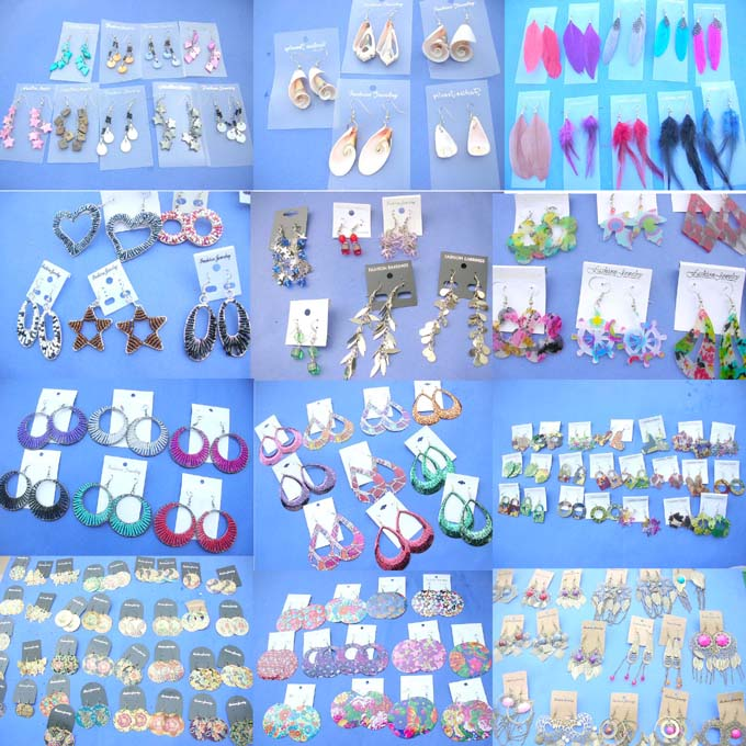 assorted thai pairs earrings leather beautique wholesale