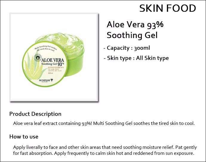 Aloe Vera 93% Soothing Gel by Skinfood #7