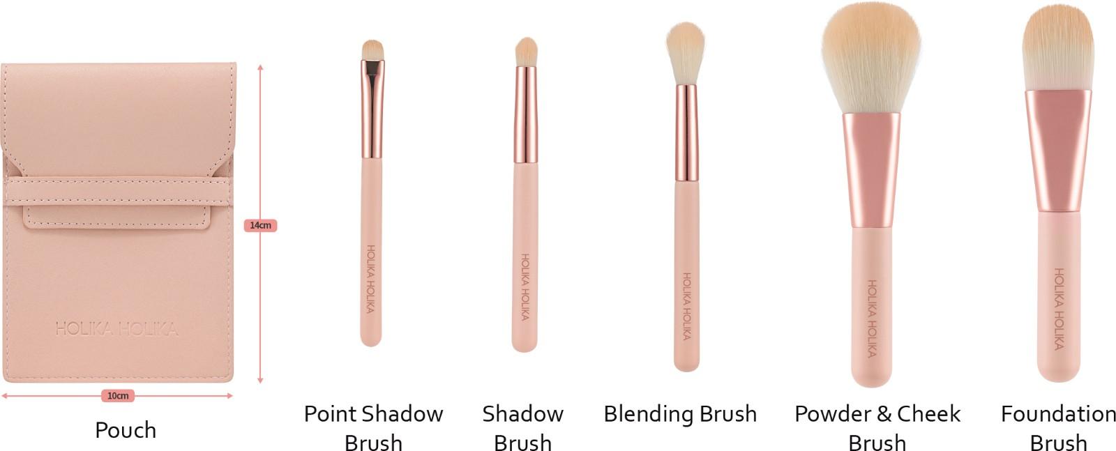 Nudrop Mini Brush Set Detail