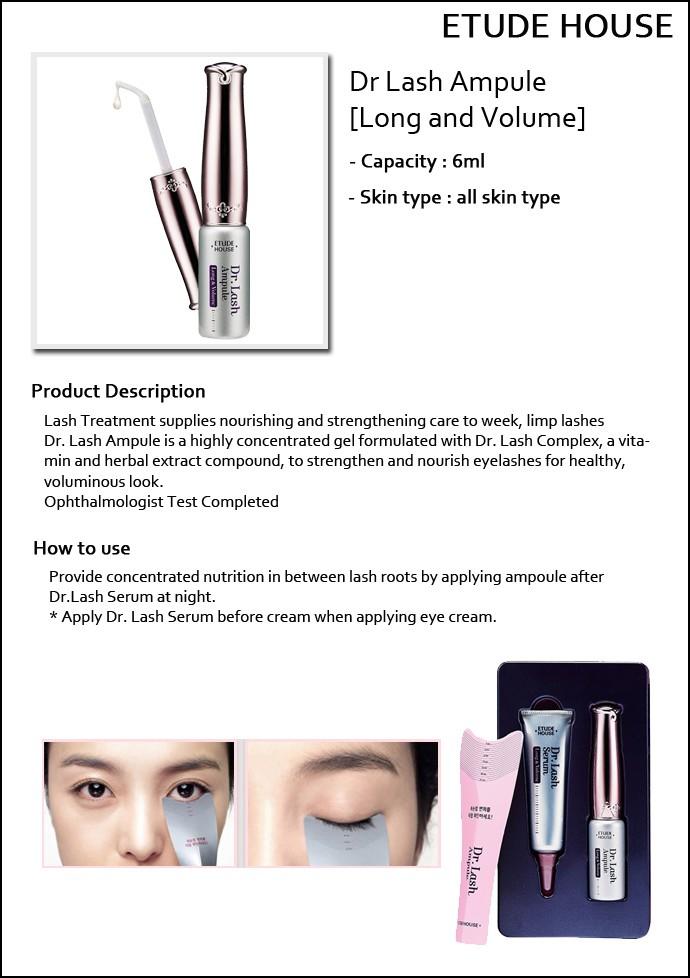 887b21a9917 [ETUDE HOUSE] ☆ Big Sale 40% ☆ Dr.Lash Ampule Long & Volume 6ml / 20,000  won(24)