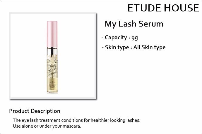0f2a1b53924 [ETUDE HOUSE] ☆ Sale 37% ☆ My Lash Serum 9g / Eyelash Care Essence / Eyelash  Serum / 4,500 won(35)