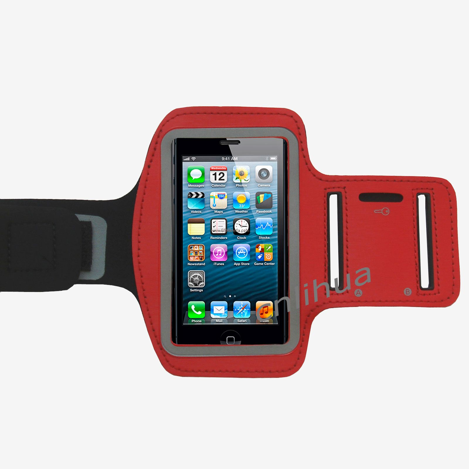Red Sports Armband Case Running Velcro Strap for iPod ...