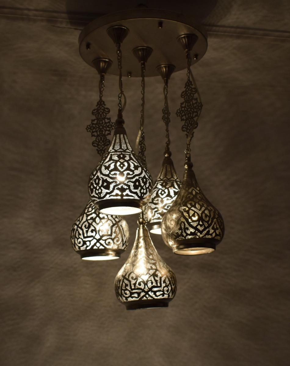 Moroccan 5 In 1 Hanging Pendant Lamps Lighting Ceiling Light Chandelier Ebay