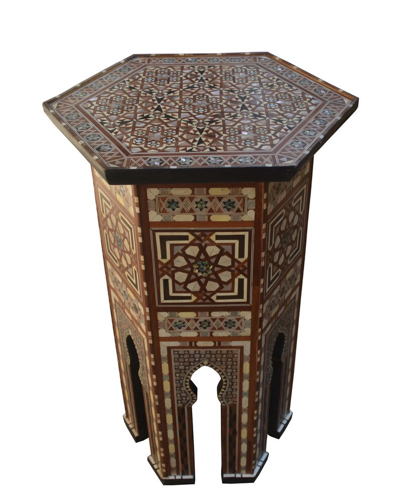 Details About 29 Height Handcrafted Moroccan Turkish Mother Of Pearl Inlaid Coffee Side Table