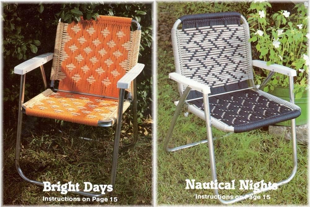 Macrame Cording Lawn Chairs 14 Southwest Designs Pattern